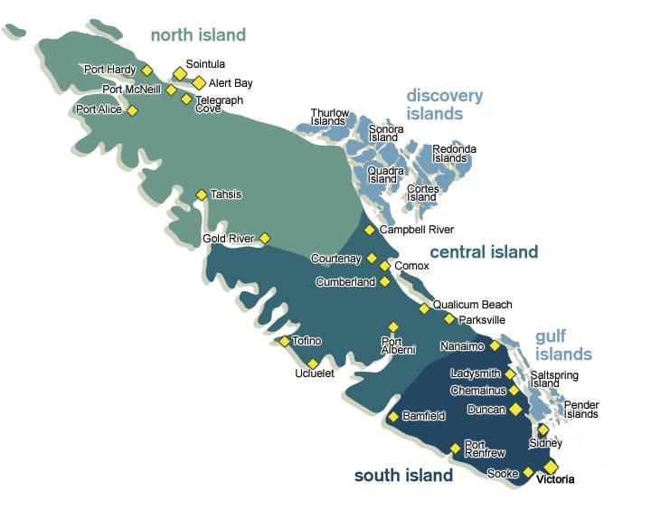 Vancouver Island Zones