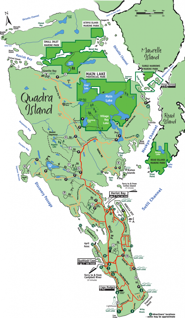 Quadra Island Map