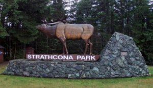 Strathcona Park Entrance