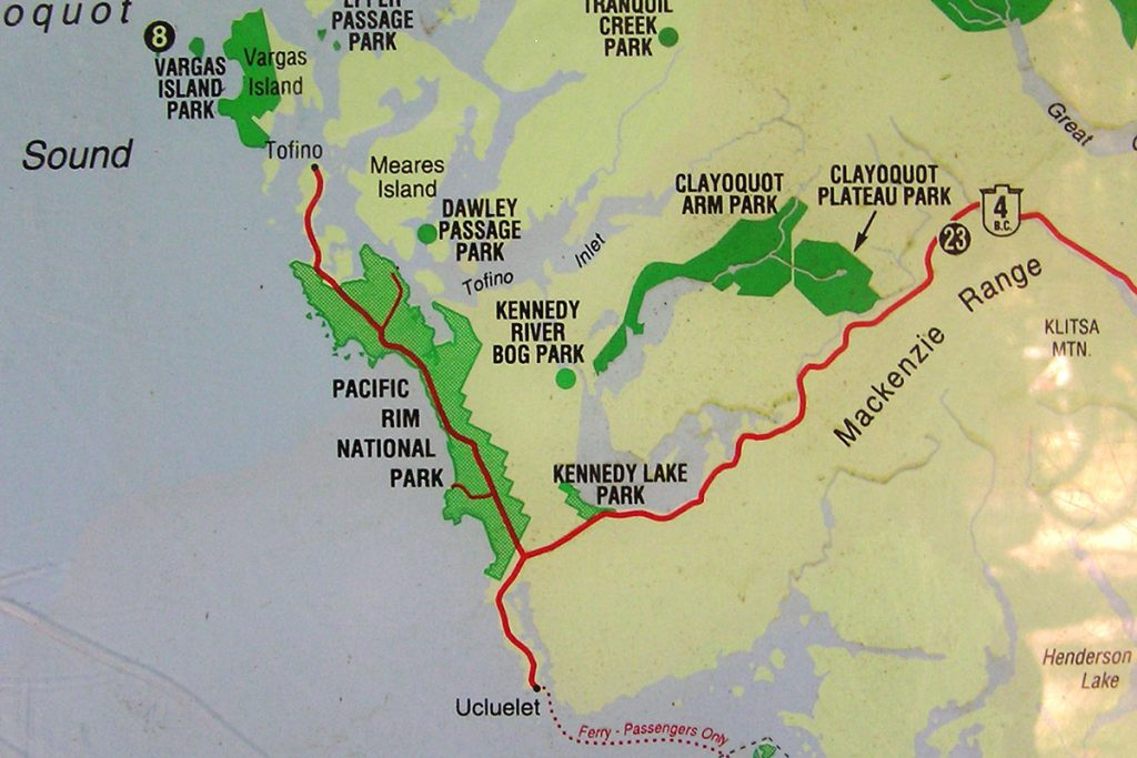 Kennedy Lake Map